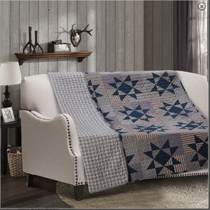 Blue Barn Nine Point Star Printed Quilted Throw